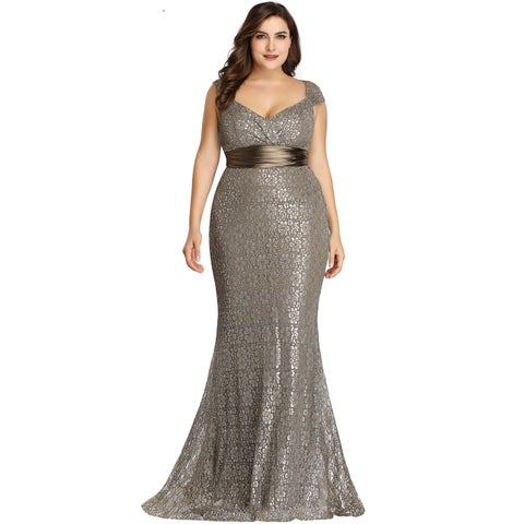 Ever-Pretty Women's Bodycon Mermadi Lace Long Formal Evening Party Dress 08798