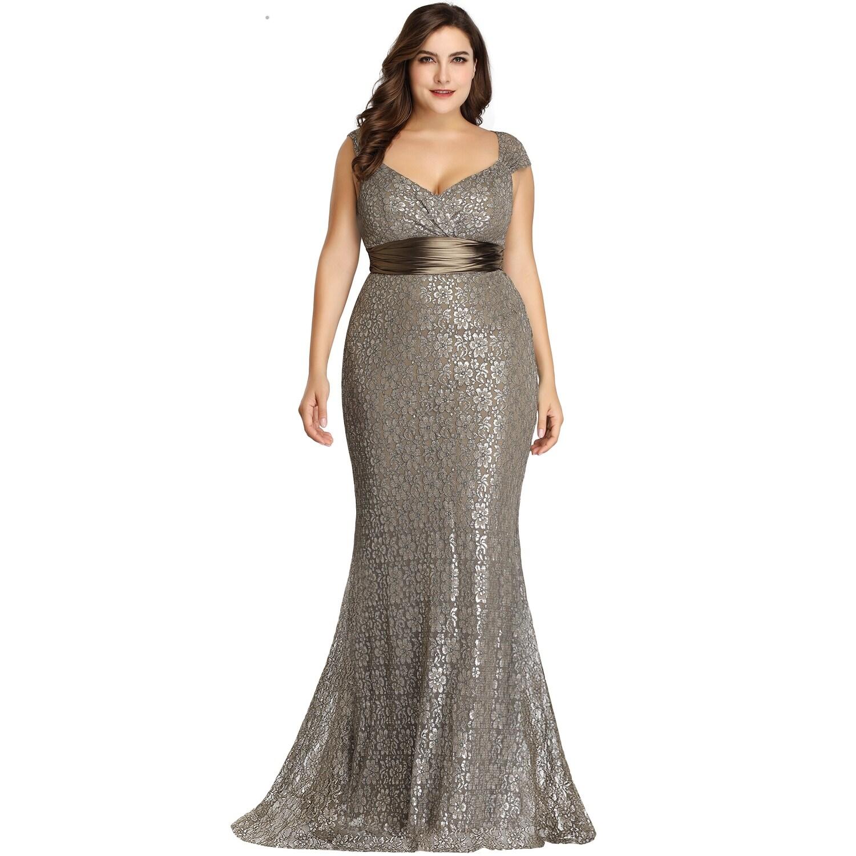 9daf8b76188 Long Empire Waist Evening Dress With Short Flutter Sleeves - Data ...