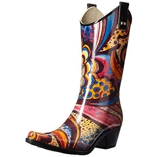 Nomad Womens Yippy Printed Western Rain Boots - 7 medium (b,m)
