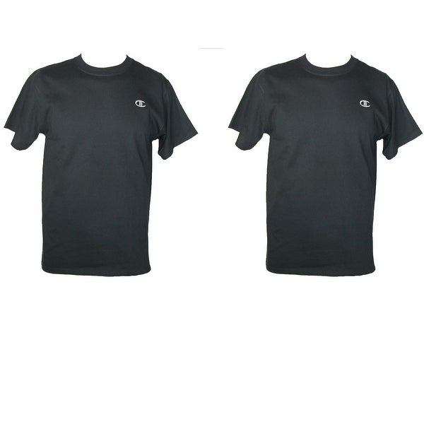 f255d2af Shop Champion Men's Cotton Short Sleeve Jersey Shirt (Pack of 2) - Free  Shipping On Orders Over $45 - Overstock - 14311439