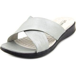 Softwalk Tillman Open Toe Leather Slides Sandal