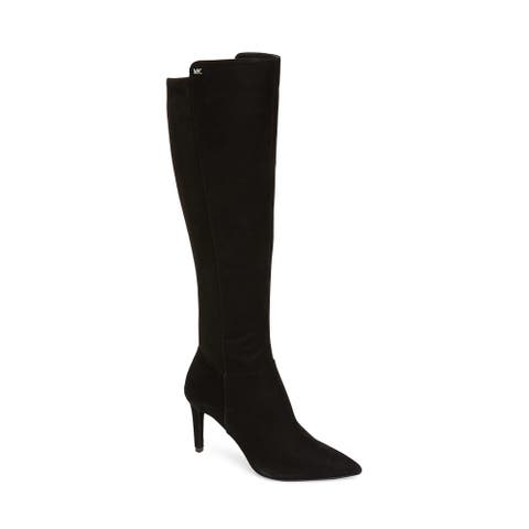 Michael Kors Women's Suede Leather Dorothy Flex Tall Boot Black