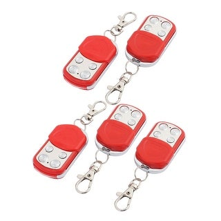 5pcs 100M 4 Keys Waterproof Car Anti-theft Alarm Digital Remote Controller Red