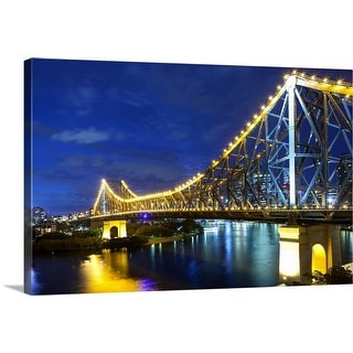 """Brisbane's Story Bridge by night, Queensland, Australia"" Canvas Wall Art"