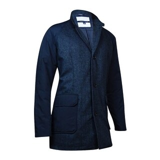 Tommy Hilfiger Men's Mock Neck Topcoat (L, Midnight) - L
