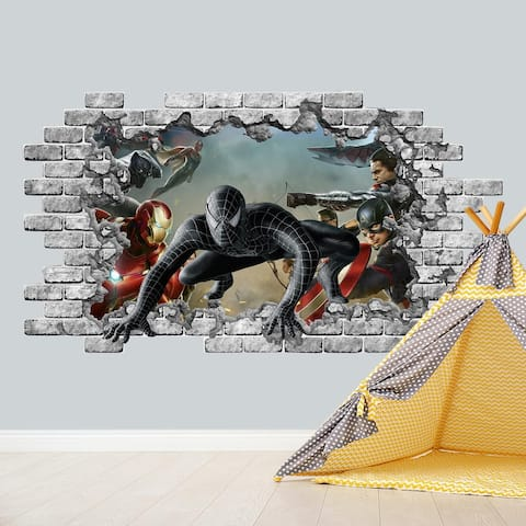 Super Heroes Wall Decal Hole in the Wall