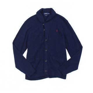 Polo Ralph Lauren NEW Navy Blue Mens Size Medium M Cardigan Sweater