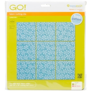 "Go! Fabric Cutting Dies-Square 2-1/2"" Multiples"