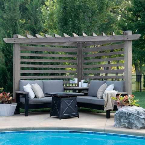 Backyard Discovery Catalina Cabana Pergola with Conversation Seating