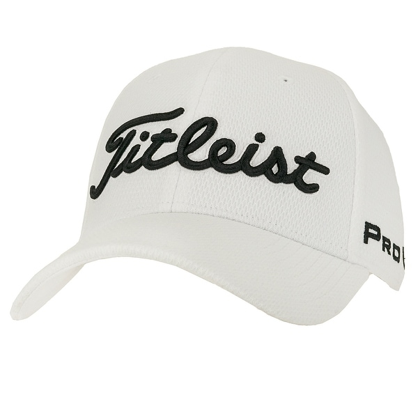 Shop Titleist Men s Players Deep Back Staff Hat - White - M L - Free ... ec42968c21d