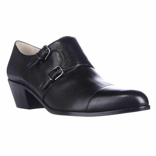 Via Spiga Cielo Sleek Buckle Oxfords, Black - 9.5 us