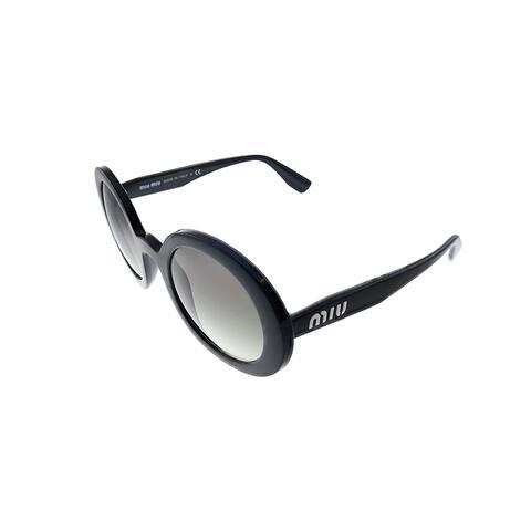 Miu Miu MU 06US 1AB0A7 48mm Womens Black Frame Grey Gradient Lens Sunglasses