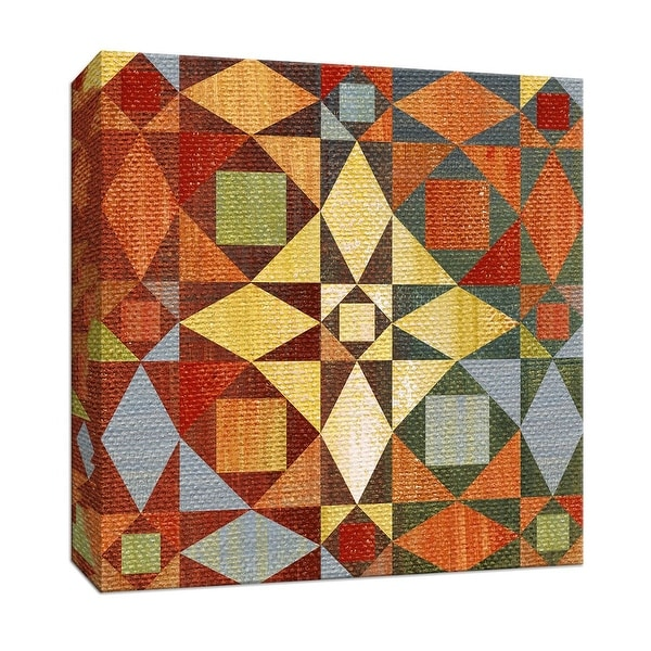 """PTM Images 9-146751 PTM Canvas Collection 12"""" x 12"""" - """"Kaleidoscope Quilt II"""" Giclee Patterns and Designs Art Print on Canvas"""