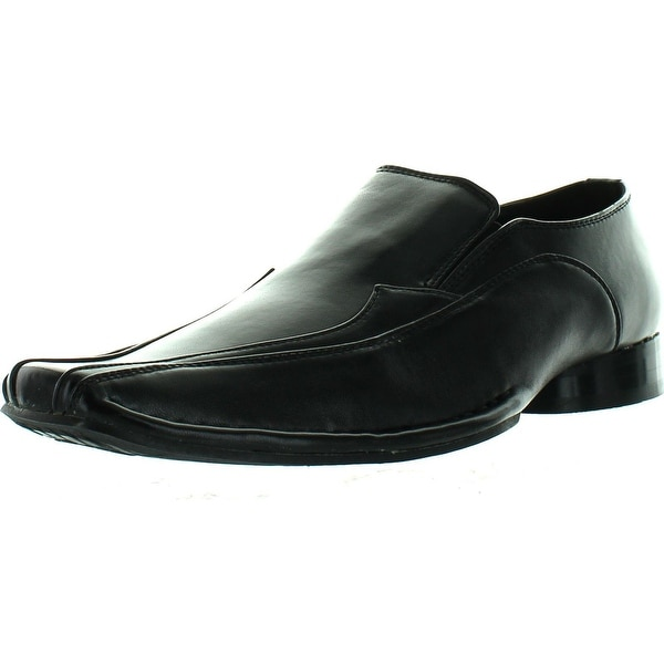 Miko Lotti 679 Men's Dress Bicycle-Toe Ranch Slip-On Loafers - Black