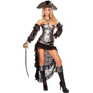 Deadly Pirate Captain Costume, Hoty Pirate Costume - as shown