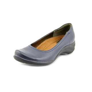 Hush Puppies Alter Pump Women W Round Toe Leather Blue Flats