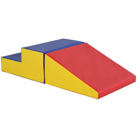 Soozier 2-Piece Climb & Crawl Activity Play Foam Building Blocks for Toddlers with a Soft High-Density Foam Material