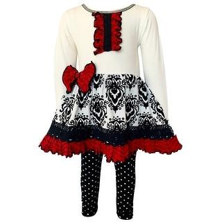 Link to AnnLoren Girls Boutique Winter Damask Holiday Tuxedo Polka Dots Herringbone Dress Tunic and Legging Set Similar Items in Girls' Clothing