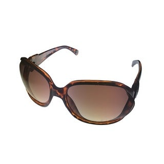 Ellen Tracy Womens Sunglass ET531 1 Tortoise Rectangle Plastic, Brown Lens - Medium