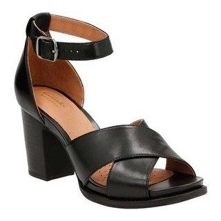 Shop Clarks Women S Briatta Tempo Ankle Strap Sandal Black