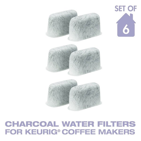 GoldTone Charcoal Water Coffee Filter Cartridges, Replaces Keurig 05073 Charcoal Water Coffee Filters- Set of6