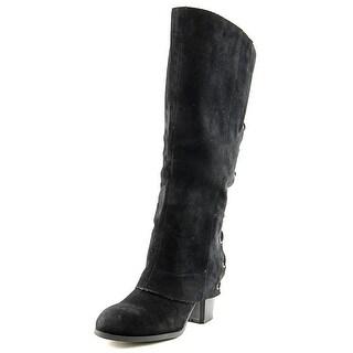 Fergalicious Truffle Women Round Toe Synthetic Black Knee High Boot