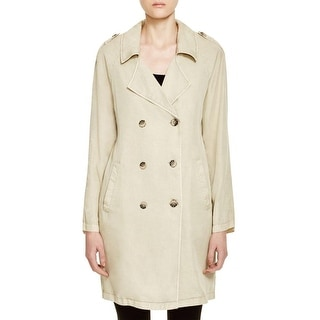 Sanctuary Womens Jane In Paris Trench Coat Double-Breasted Lightweight