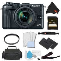 Canon EOS M6 Mirrorless Digital Camera with 18-150mm Lens Pro Bundle w/ 32GB Memory Card - Intl Model