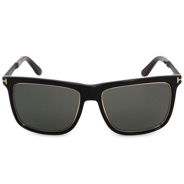 cf8202f50c3 Shop Tom Ford Karlie Square Sunglasses FT0392 F 01R 57 - On Sale ...