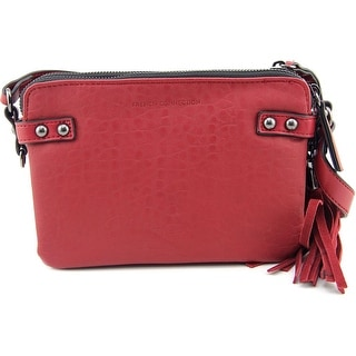 French Connection Camden CrossBody Synthetic Messenger - Red