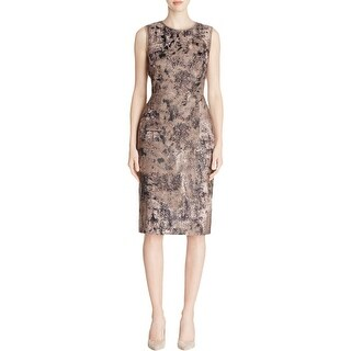 Lafayette 148 Womens Cocktail Dress Jacquard Sleeveless