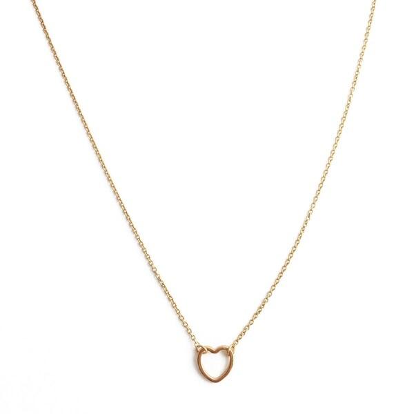 Honeycat Open Heart Necklace