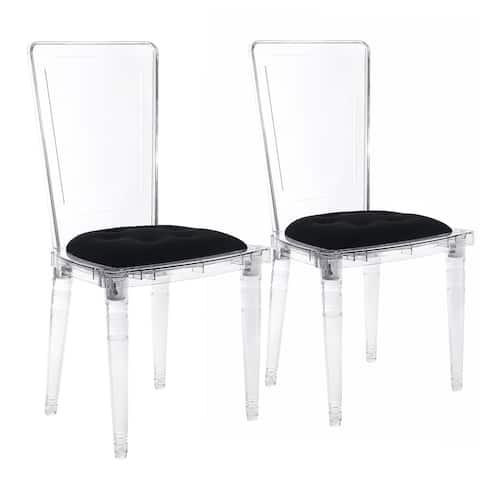 Hansel Transparent Acrylic Dining Chair (Set of 2)