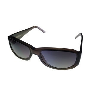 Levi Mens Sunglass LS129 2 Black Fade Plastic Rectangle Wrap, Smoke Gradient Lens - Medium