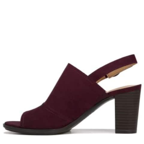 Naturalizer Womens Logic Fabric Peep Toe Formal Slingback Sandals