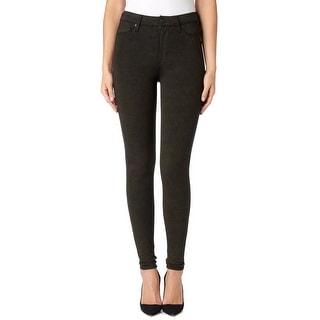 Hudson NEW Black Gold Women's Size 24X29 Glitter Skinny Barbara Jeans