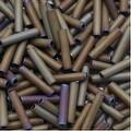 Toho Bugle Tube Beads Size 3 2x9mm Matte Iris Brown 10 Grams - Thumbnail 0