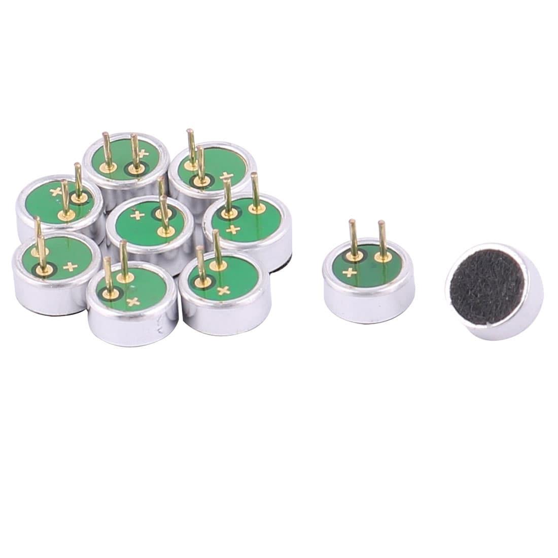 2x Mini 9x7mm Microphone MIC Capsule Electret Condenser 2 Pin