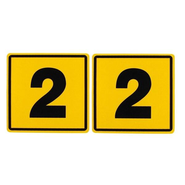Unique Bargains 2 Pcs Car Auto 2 Pattern Plastic Reflective Sticker Decor  Yellow Black