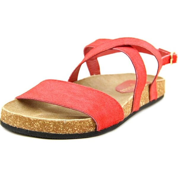 Matisse Frisky Women Open-Toe Suede Red Slingback Sandal