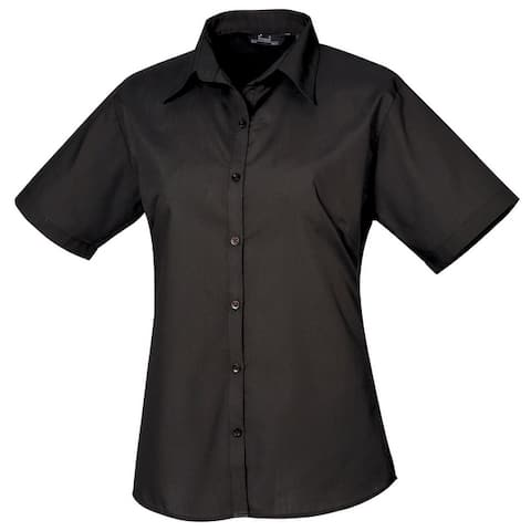Premier Short Sleeve Poplin Blouse/Plain Work Shirt