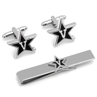Vanderbilt University Commodores Cufflinks and Tie Bar Gift Set - Black