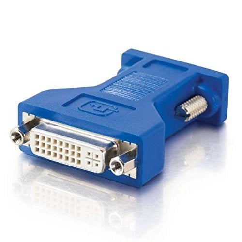 C2g Cables To Go 26957 Dvi Female To Hd15 Vga Male Video Adapter, Blue