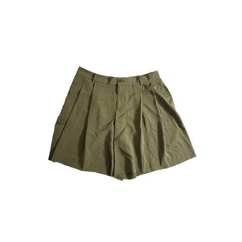 Lauren Ralph Lauren Petite Olive Pleated Shorts 6P