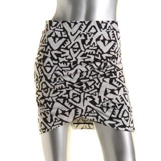 Zara TRF Womens Printed Ruched Mini Skirt - M