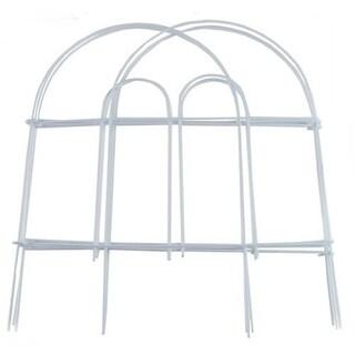 """Garden Zone 051808 Round Top Folding Fence, White, 18"""" x 8'"""