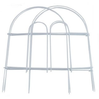 "Garden Zone 051808 Round Top Folding Fence, White, 18"" x 8'"