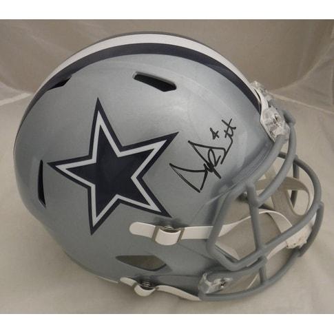 Dak Prescott Autographed Dallas Cowboys Full Size Speed Replica Helmet JSA