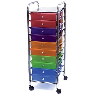 "Storage Studios Home Center Rolling Cart W/10 Drawers-15.25""X37.5""X13"" Multicolor"