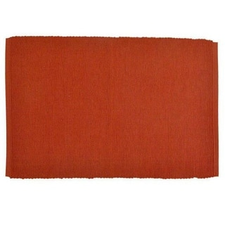 Set of 6 Decorative Burnt Orange Spice Cotton Table Placemats 19""